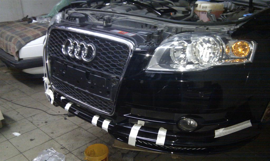 Spoilerlippe + RS4 Grill